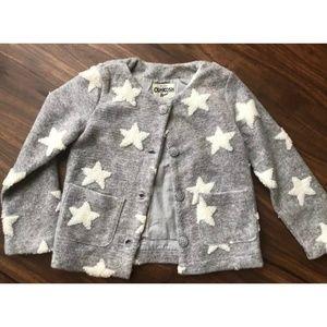 Girls OshKosh B'Gosh Gray Star Sweater/Jacket